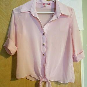 Light pink sheer top